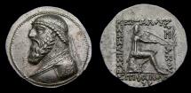 Ancient Coins - Kings of PARTHIA, Mithradates II, 123-88 B.C. AR Tetradrachm (31 mm, 15.83 gm., 11h), Seleukeia mint Choice EF+