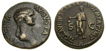 Ancient Coins - ANTONIA Minor, mother of Claudius, Augusta, 41 A.D. Æ Dupondius (27 mm, 13.56 gm., 6h), Struck 42-54 A.D. Near EF