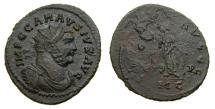 Ancient Coins - Carausius, Romano-British Emperor, 286-293 A.D., Aurelianus (24 mm, 3.28 gm., 6h), C mint, 292-3 EF/aVF Rare Unpublished