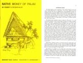 World Coins - Native Money of Palau by Robert E. Ritzenthaler - 1973 Second Edition