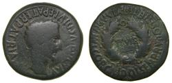 Ancient Coins - SPAIN, Bilbilis, Augustus, 27 BC-AD 14. Æ As (28mm, 12.09 g, 5h). L. Cor. Calidius and L. Semp. Rutilius, duoviri. Struck after 2 B.C. aVF