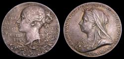 Ancient Coins - Queen Victoria Diamond Jubilee 1897 Silver Medal by T. Brock Royal Mint 6333