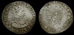 World Coins - France Lorraine Charles III (1545-1608) AR Teston (8.91g, 28mm, 11h) aVF