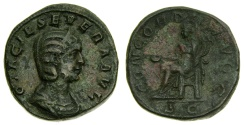 Ancient Coins - Otacilia Severa, Augusta, A.D. 244-249, Æ Sestertius (29 mm, 19.79 gm., 12h), Rome mint, Struck by Philip I, A.D. 246 Good VF