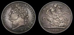 Ancient Coins - 1822 Great Britain Silver Crown .8409 King George IV S-3805 Toned VF+ 6314