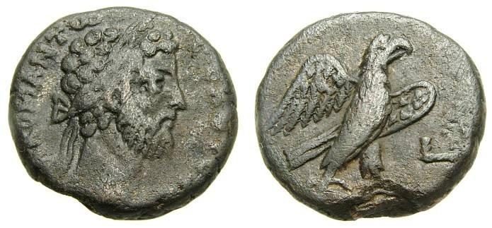 Ancient Coins - EGYPT, Alexandria, Commodus, A.D. 177-192, BI Tetradrachm (22 mm, 11.66 gm., 11h), Dated RY 30 (A.D. 189/90), VF Eagle Ex CNG