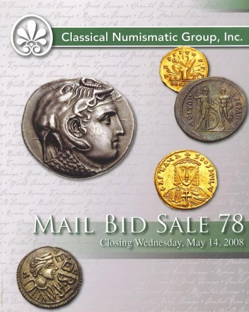 Ancient Coins - CNG Auction Sale 78 - May 14, 2008, Greek, Roman, Byzantine and Medieval Coins