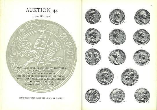 Ancient Coins - M&M 44 - Munzen und Medallien Sale 44, June 15-17, 1971 - Major sale of Roman and Greek Gold, Coins of Venice, French, Talers, Swedish Coins