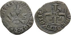 World Coins - ANGLO-GALLIC. Henry V, 1413-1422. (Billon, 23.5 mm, 1.48 g, 5 h), Niquet au léopard, Rouen mint, pellet under 1st letter. Authorized 30 November 1421 aVF Ex Nomos