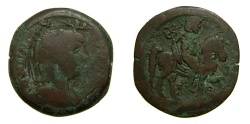 Ancient Coins - EGYPT, Alexandria, Antinoüs, Favourite of Hadrian, Died A.D. 130. Æ Hemidrachm (27 mm, 12.91 gm., 12h), Struck RY 19 of Hadrian (AD 134/5) Good Fine RARE