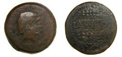 Ancient Coins - SPAIN, Carmo, Circa 200-150 BC, Æ As (35mm, 27.29 g, 5h) aVF, Impressive Flan