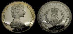 World Coins - 1977 Isle of Man Silver Crown .925 .841 KM #42A Proof