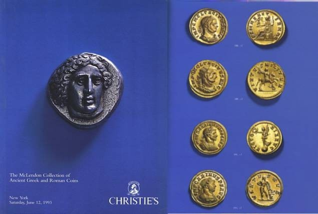 Ancient Coins - Christie's Auction The McLendon Collection of Ancient Greek and Roman Coins June 12, 1993