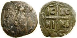 Ancient Coins - Byzantine Empire, Anonymous, Æ Follis temp. Michael IV, circa 1034-1041 (30 mm, 8.05 gm., 6h), Constantinople mint Class C VF