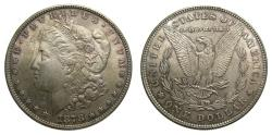 Us Coins - United States Moragan Silver Dollar 1878 7 Tail Feathers 2nd Reverse Toned UNC
