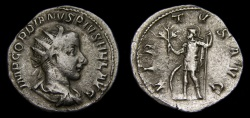Ancient Coins - Gordian III, A.D. 238-244, AR Antoninianus (23 mm, 4.02 gm., 8h), Rome, Struck A.D. 240, gF/VF