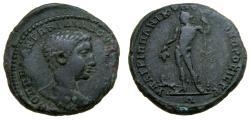 Ancient Coins - MOESIA INFERIOR, Nicopolis ad Istrum, Diadumenian, As Caesar, AD 217-218. Æ (27 mm, 12.53 gm., 6h) VF Dionysios