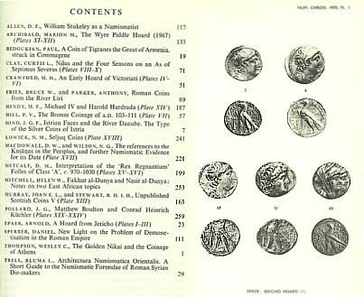Ancient Coins - Numismatic Chronicle 1970 - Royal Numismatic Society RNS