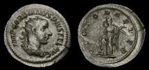 Gordian III, A.D. 238-244, AR Antoninianus (23 mm, 4.15 gm., 5h), Rome, Struck A.D. 243/244