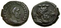 Ancient Coins - EGYPT, Alexandria, Maximinus I, A.D. 235-238, Potin Tetradrachm (22 mm, 12.73 gm., 12h), Dated RY 2 (A.D. 235/236) Good VF Nilus