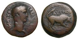 Ancient Coins - EGYPT, Alexandria, Claudius, AD 41-54, Æ Obol (20 mm, 6.53 g, 12h) Dated RY 2 (AD 41/42) Fine+