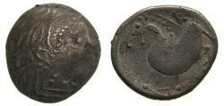 Ancient Coins - CELTIC, Northern Carpathian Region, The Costobocii(?) 2nd century B.C. AR Tetradrachm (21 mm, 8.57 g.) Schnabelpferd Type Good VF
