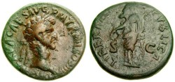 Ancient Coins - Nerva, A.D. 96-98, Æ As (27 mm, 12.13 gm., 5h), Rome mint, Struck A.D. 97, Good Fine+ Libertas