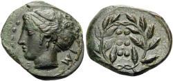 Ancient Coins - SICILY, Himera, Circa 415-409 B.C. Æ Hemilitron (17 mm, 2.90 g, 4 h) EX Ex Nomos
