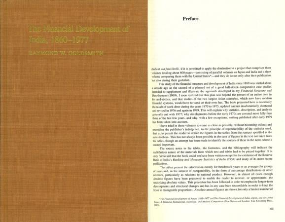 World Coins - Financial Development of India: 1860-1977 by Raymond W. Goldsmith (1983)