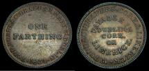 Ancient Coins - Ireland Todd, Burns & Co. Unofficial farthing 1834 Bell.Co.Dublin #2 I/SH88 6279