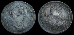Ancient Coins - Great Britain c. 1689 William & Mary AR Medallic Token by Roettiers Candore H AE C Lillia Vincit Very Rare