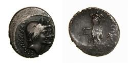 Ancient Coins - Mn. Cordius Rufus (46 B.C.) AR Denarius (18.5 MM, 3.93 GM, 8 H) VF