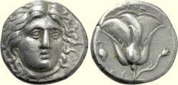 Ancient Coins - CARIA, Rhodes, Circa 305-275 BC, AR Didrachm (18 mm, 6.70, 12h) VF