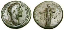 Ancient Coins - ANTONINUS PIUS, 138-161 A.D. Æ Sestertius (32 mm, 23.49 gm., 12h), Struck circa 141-143 A.D. aVF Apollo
