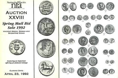 Ancient Coins - NFA XXVIII - Numismatic Fine Arts 28 - Spring Mail-bid Sale April 23, 1992 - Significant Offering of 550 Jewish and Related Coins PRL