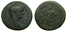 MOESIA INFERIOR, Tomis, Caracalla, A.D. 198-217, Æ Tetrassarion (27 mm, 10.32 gm., 12h) Near VF Tyche