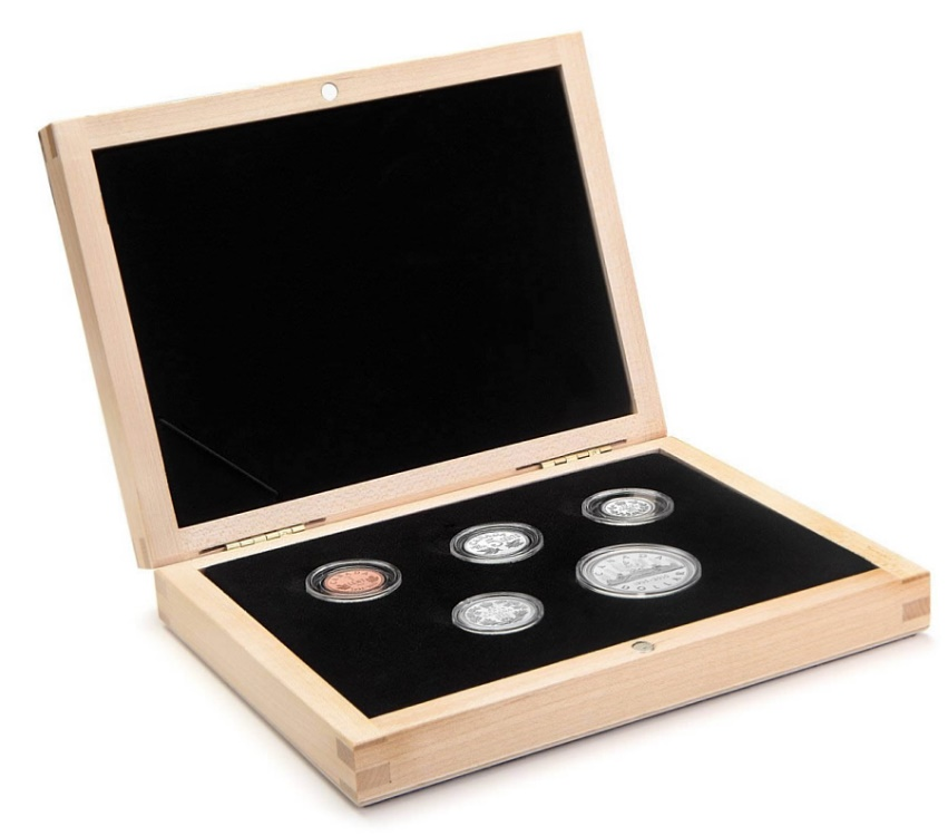 Ancient Coins - 1935 - 2010 Limited Edition Proof Set - 75th Anniversary of Canada's Voyageur Silver Dollar