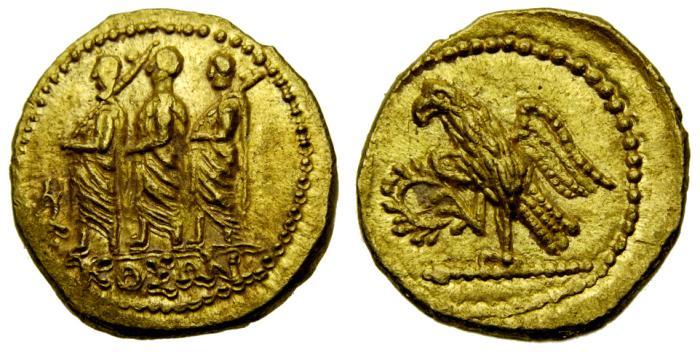 Ancient Coins - SCYTHIA, Geto-Dacians, Koson. Mid 1st century B.C. AV Stater (20 mm, 8.37 gm., 12h) Choice EF
