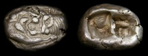 Ancient Coins - KINGS of LYDIA, temp. Cyrus – Darios I, Circa 550/39-520 B.C. AR Half Stater – Siglos (16 mm, 5.30 gm.), Sardes mint Good VF+