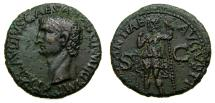 Claudius, A.D. 41-54, Æ As (28 mm, 11.07 gm., 9h), Rome mint, Struck A.D. 41-42 Good VF Constantia