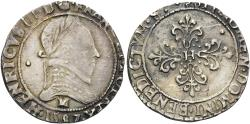 World Coins - FRANCE, Royal, Henri III, as King of France and Poland, 1574-1589, AR Demi-franc (28 mm, 7.07 g, 7 h), dated 1579 M, Toulouse mint VF Ex Nomos