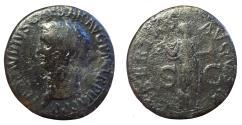 Ancient Coins - Claudius, 50-54 AD, Æ As (29 mm, 12.39 g.,6h), Rome Mint, Struck AD 42-43 Fine