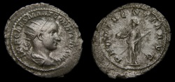 Ancient Coins - Gordian III, A.D. 238-244, AR Antoninianus (25 mm, 4.41 gm., 12h), Rome, First Issue, Struck A.D. 238/9, VF