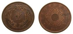 World Coins - Y33 (1900) Japan Sen Very Scarce in High Grade KM#20 AU++