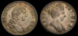 """Ancient Coins - Great Britain c. 1690 William & Mary Silver Medallic Token """"Mary Procclaimed Regent"""" Eimer 319 Rare EF"""