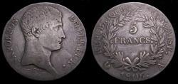Ancient Coins - France 1806A 5 Francs Napoleon Bonaparte Paris Mint Mintage 826,000 KM#673.1 VF 6359