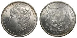 Us Coins - United States Moragan Silver Dollar 1889 Choice UNC Light Toning