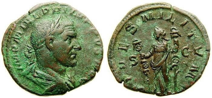 Ancient Coins - PHILIP I, 244-249 A.D. Æ Sestertius (30 mm, 16.56 gm., 12h) Struck 244 A.D. Good VF Fides