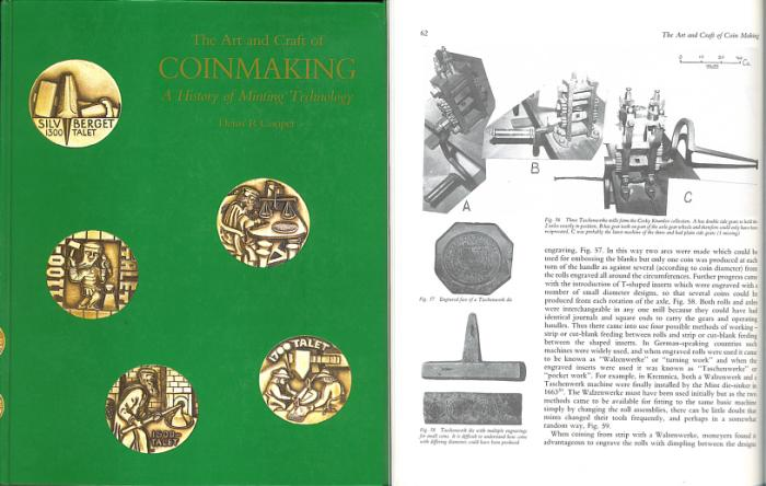 The Art and Craft of Coin Making: A history of Minting Technology by Denis  R  Cooper - Very Rare Book - Ex Bruce R  Brace Library
