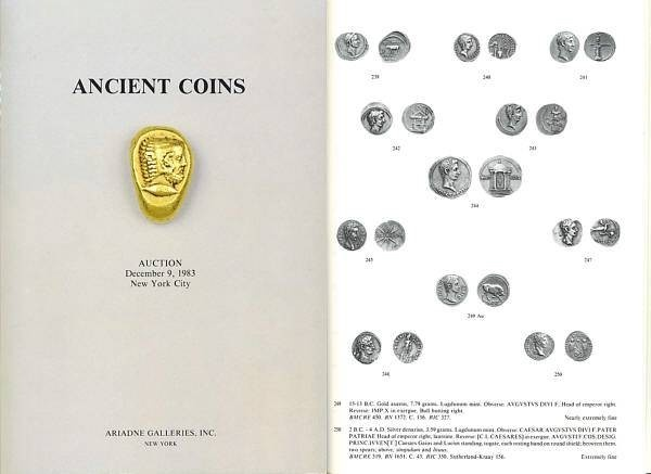 Ancient Coins - Ariadne Galleries, Ancient Coins, New York, Auction of December 9, 1983 - Greek, Roman, Byzantine Coins